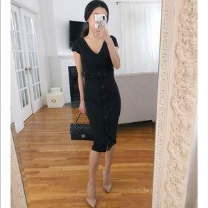 Express button down sheath dress black small